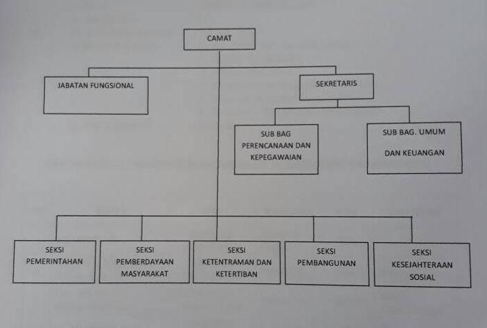 Struktur Organisasi Kecamatan Manguharjo